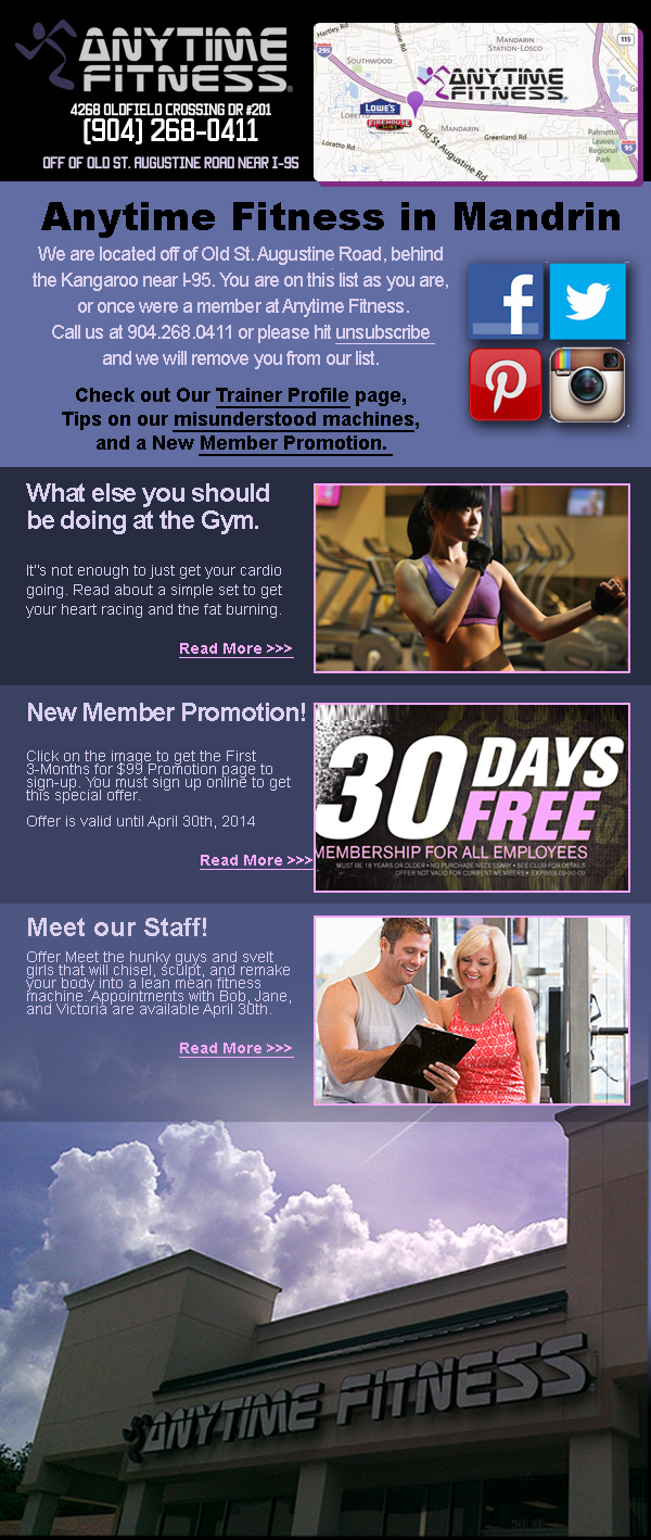 Anytime Fitness Email marketing Template